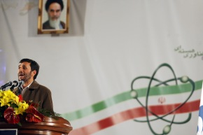 Mahmoud Ahmadinejad Announces Scaling-Up of the Nuclear Enrichment Program